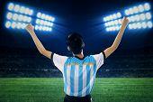 Argentine Soccer Player Celebrate Winning 1