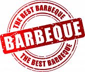 Vector Barbeque Stamp