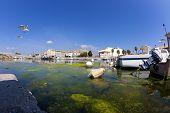 Fisheye Shot Of The Fishing Port In Gruissan