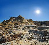 Cliffs And Slopes Of The Mountains Shalkar-nura
