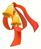Bells with red ribbon