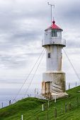 picture of faroe islands  - Old lighthouse on the island of Mykines on Faroe islands - JPG