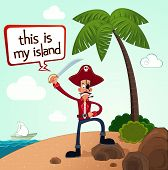 pirate discover an island