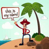 pirate discover an island