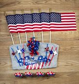 United States Of America Celebration For Independence Day Objects