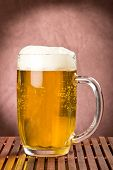 Golden Light Beer In Mug