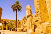 picture of ramses  - Ramses statue in Karnak temple Luxor Africe - JPG