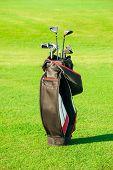 stock photo of golf bag  - Golf club - JPG