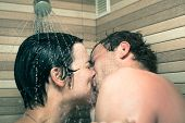 Lovers In Shower