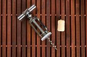 Corkscrew And Wine Cork