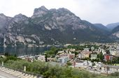 Aerial View Of Riva Del Garda, Northern Lake Garda, Italy