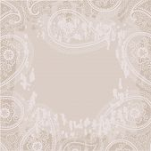 Vintage Paisley Grunge Background