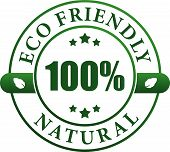 100% eco friendly natural label