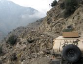 picture of humvee  - This picture consists of US Soldiers on patrol in Eastern Afghanistan - JPG