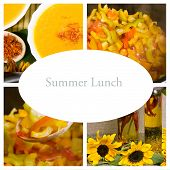 Summer, Autumn Lunch Collage (healthy Natural Food)
