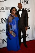 NEW YORK-JUNE 8: Actress LaTanya Richardson (L) and husband Samuel L. Jackson attend American Theatr