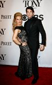 NEW YORK-JUNE 8: Actor Andy Karl (R) and wife Orfeh attend American Theatre Wing's 68th Annual Tony