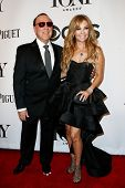 NEW YORK-JUNE 8: Music executive Tommy Mottola (L) and wife Thalia attend American Theatre Wing's 68