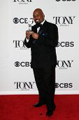 NEW YORK-JUNE 8: Actor James Monroe Iglehart poses in the press room at the American Theatre Wing's