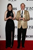 NEW YORK-JUNE 8: Lighting designers Natasha Katz (L) and Kevin Adams pose at American Theatre Wing's