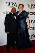 NEW YORK-JUNE 8: Actor James Monroe Iglehart and wife Dawn Iglehart attend American Theatre Wing's 6