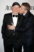 NEW YORK-JUNE 8: Playwright Terrence McNally (L) and Thomas Kirdahy attend American Theatre Wing's 6