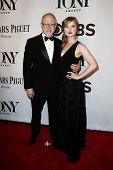 NEW YORK-JUNE 8: Robert Schenkkan (L) and guest attend American Theatre Wing's 68th Annual Tony Awar