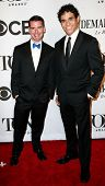 NEW YORK-JUNE 8: Actors Chad Beguelin (L) and Adam Jacobs attend American Theatre Wing's 68th Annual