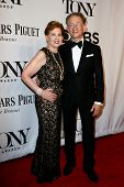 NEW YORK-JUNE 8: Costume designer William Ivey Long (R) and Adrienne Arsht attend American Theatre Wing's 68th Annual Tony Awards at Radio City Music Hall on June 8, 2014 in New York City.