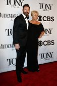 NEW YORK-JUNE 8: Actor Hugh Jackman (L) and wife  Deborra-Lee Furness attend American Theatre Wing's