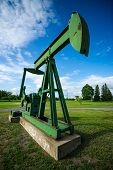 Antique, Decomissioned Oil Pumpjack On Display