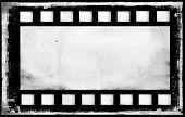 Old Grunge Film Strip Frame Background