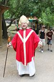 MUSKOGEE, OK - MAY 24: A man dressed as a cardinal poses for a picture at the Oklahoma 19th annual R