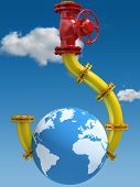 stock photo of crane hook  - Oil and Gas Dependence - JPG