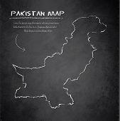 Pakistan map blackboard chalkboard vector