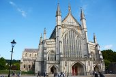 West Facade Of Winchester Cathedral, England