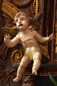 stock photo of cherub  - Baroque cherub sculpture religion art history medieval - JPG