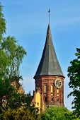 Tower Koenigsberg Cathedral. Symbol Of Kaliningrad, Russia