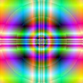 Neon Cross In Circle