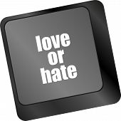 Love Or Hate Relationships Communication Impressions Ratings Reviews Computer Keyboard Key,
