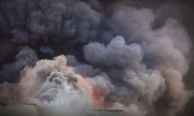 pic of polluted  - Smoke background  - JPG