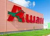Samara, Russia - August 30, 2014: Auchan Samara Store. French Distribution Network Auchan United Mor