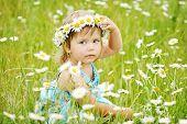 Girl On The Daisy Meadow