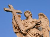 Angel with the cross statue. Rome.