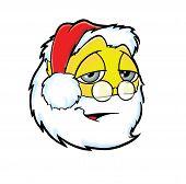 Cute sleepy Santa Claus face