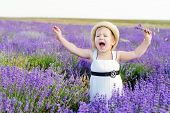Happy Toddler In Field