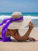 Beautiful woman on the beach. Bali Indonesia.