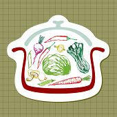 Panful Of Vegetables