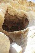 Ancient Caves At Matala In Crete, Greece