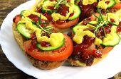 Appetizing Sandwich With Meat